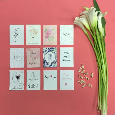 Карточка послание к цветам с доставкой в Ейске