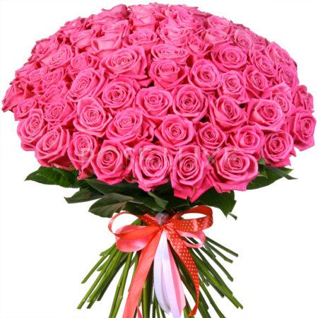 Букет из 101 розы сорт Аква №47