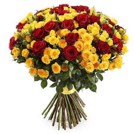 Букет из 101 розы микс №51