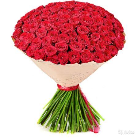 Букет из 101 розы Ред Науми №52
