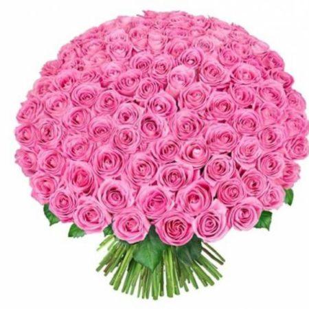Букет из 101 розы сорт Аква №55